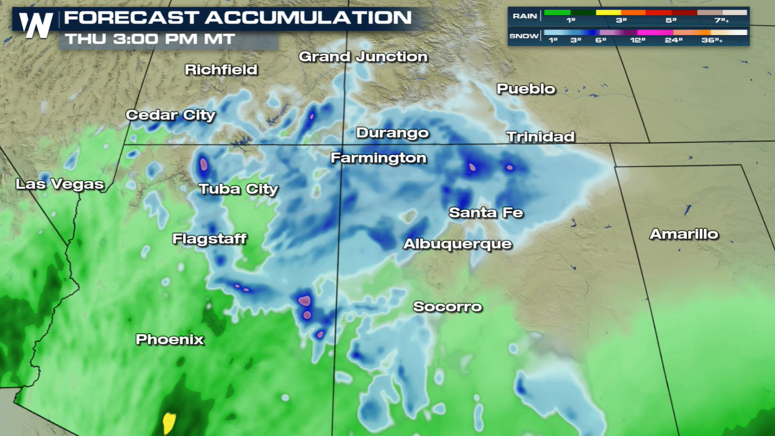 Snow On The Way for the Four Corners