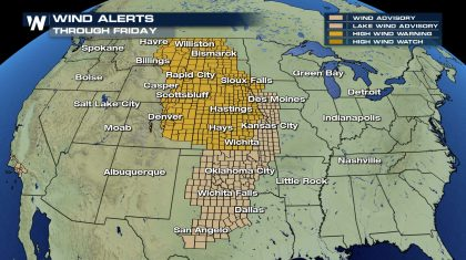 Extreme winds continue for the Great Plains