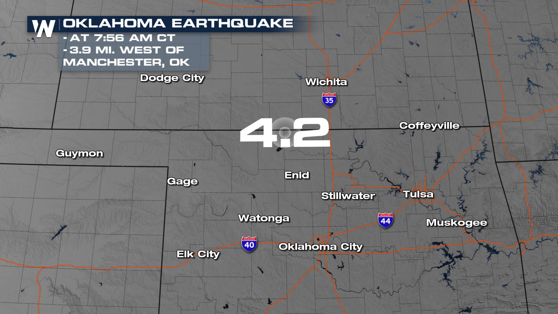 Earthquake Rattles Northern Oklahoma Early Friday