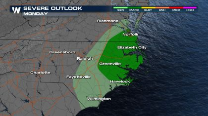 Rain and Storms Headed for the Southeast