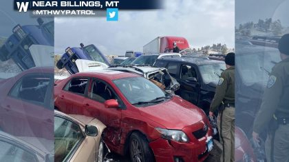 Multi-Vehicle Crash Shuts Down Interstate 90