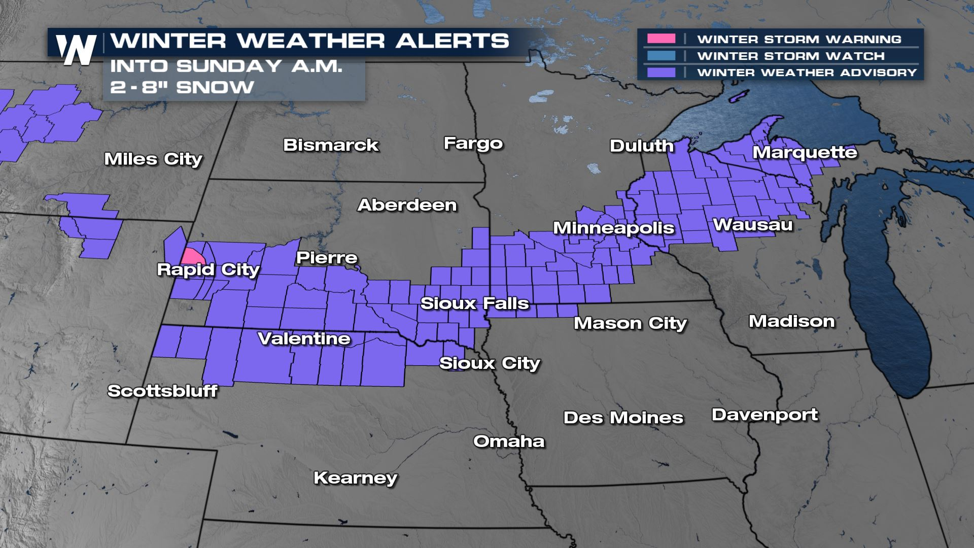 Brief Heavy Snow for the Northern Plains and Upper Midwest