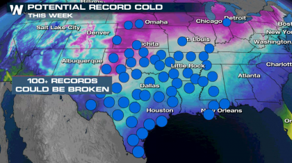 Bitter Cold Temperatures and Wind Chills in the Central U.S.