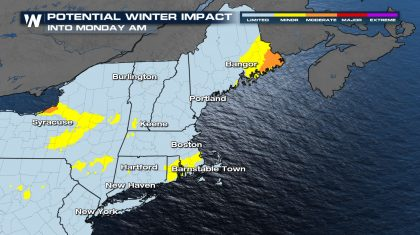 Snow Winding Down Across The East