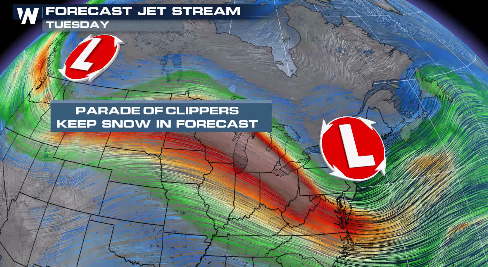 Rain, Snow and Ice for the Northeast Monday