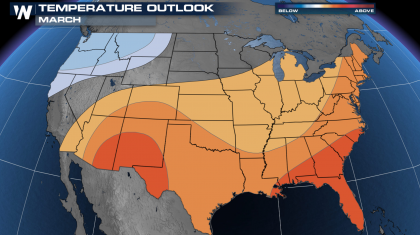 Warmer Than Average March Forecast from NOAA