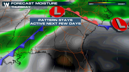 Rain and Storm Chances Continue Along the Gulf Coast