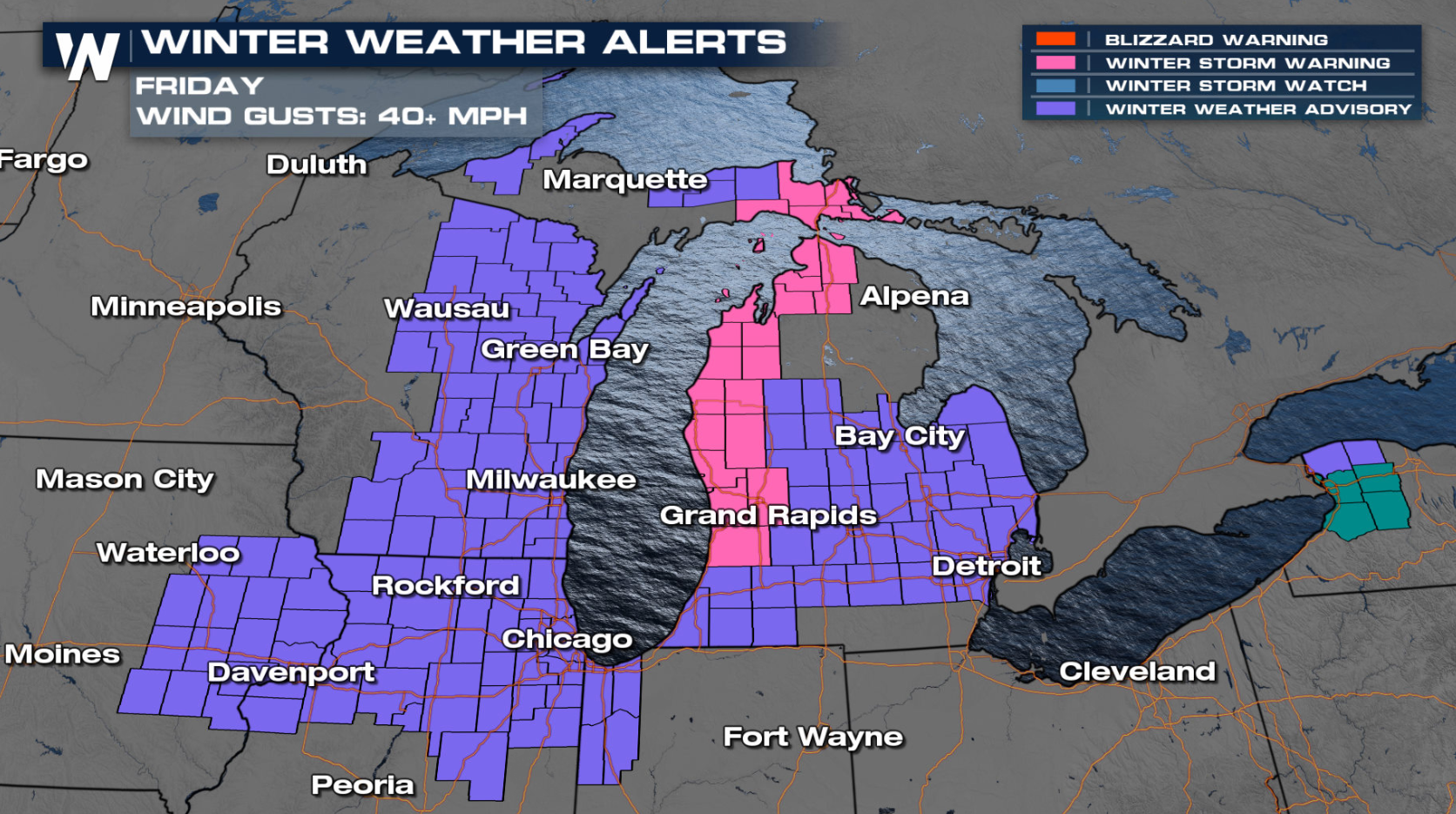 Strong Wind and Lingering Snow in the Great Lakes and Upper Midwest