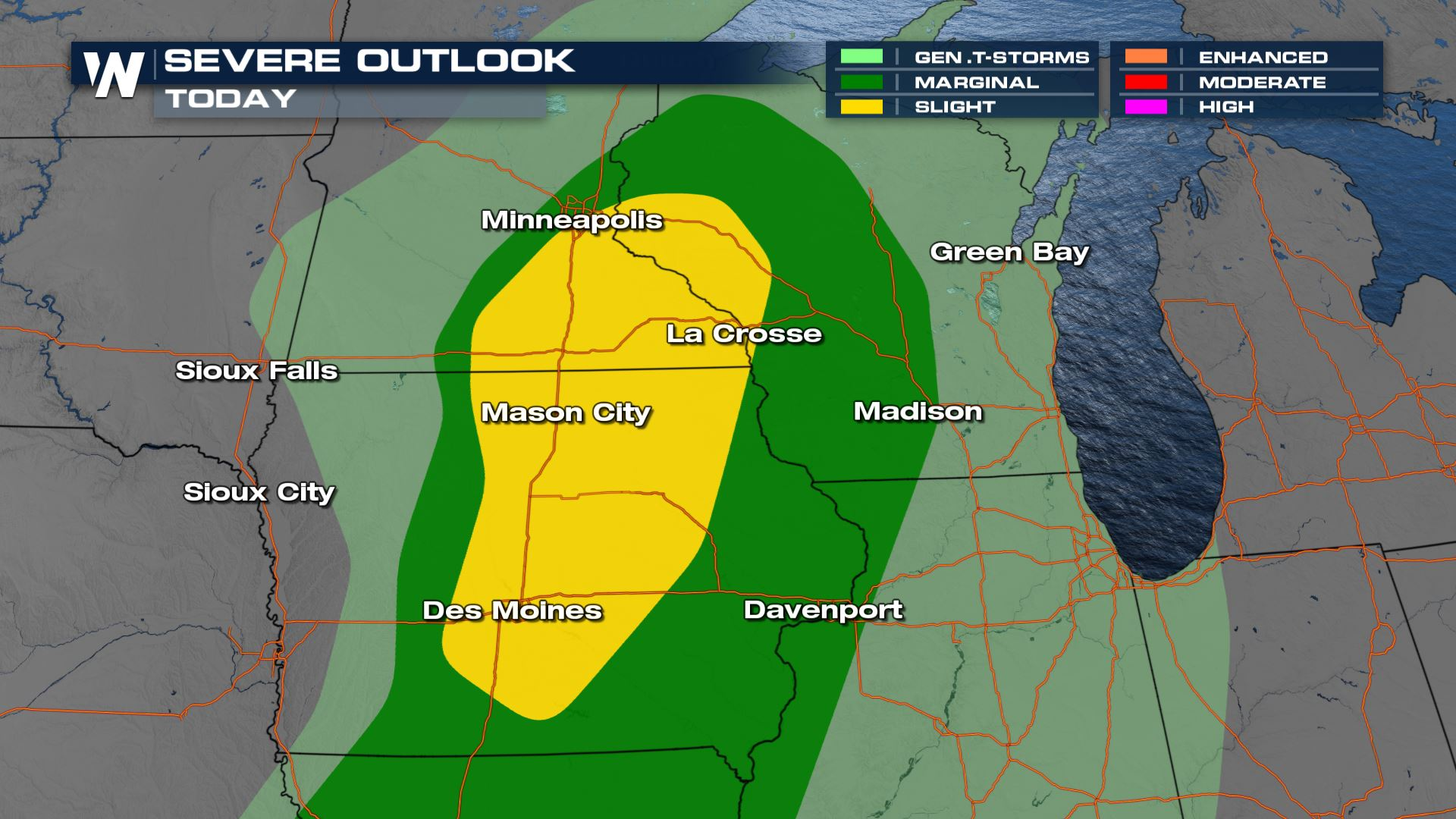 Severe Storms Possible in the Upper Midwest
