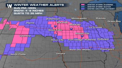 Snow and Ice Migrate to the Midwest Monday