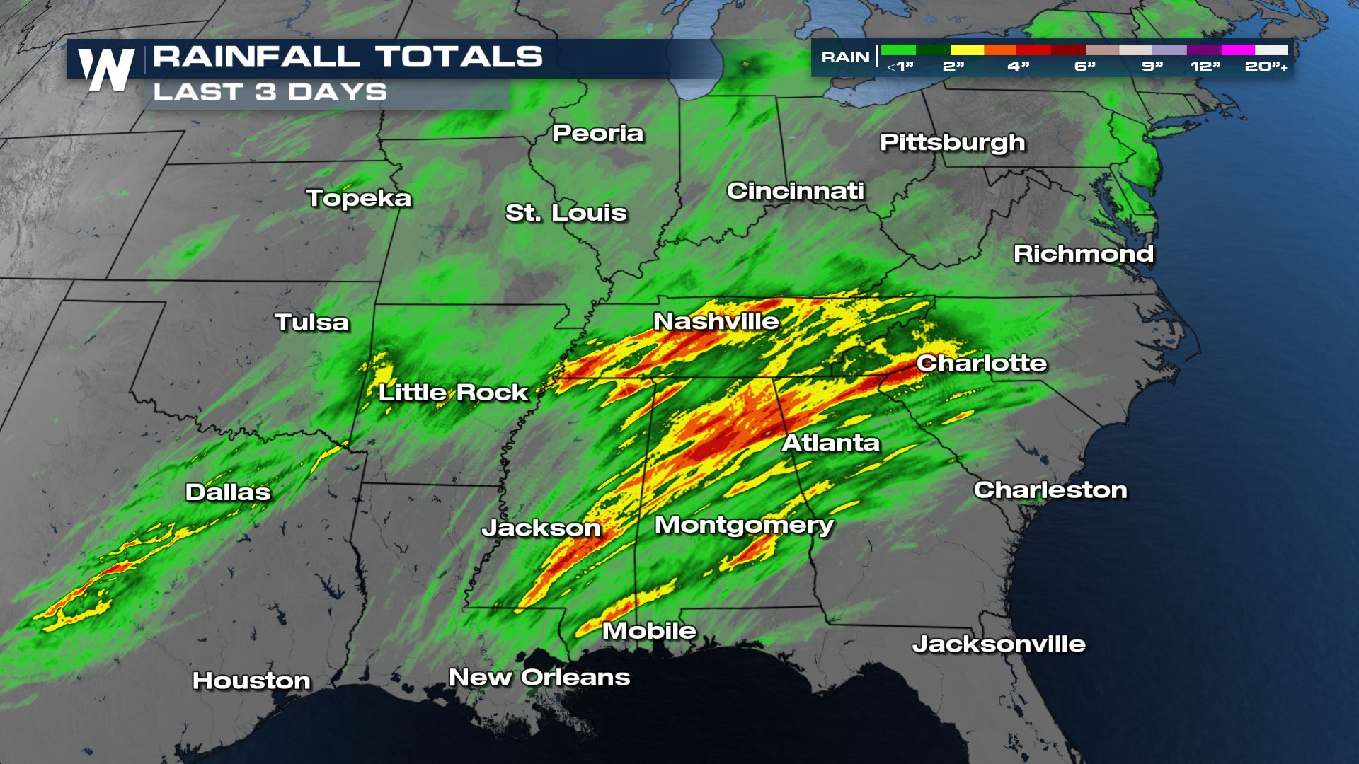 Flash Flood Risk Continues Across the Midsouth