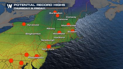 Record Warmth For The East Coast Late Week
