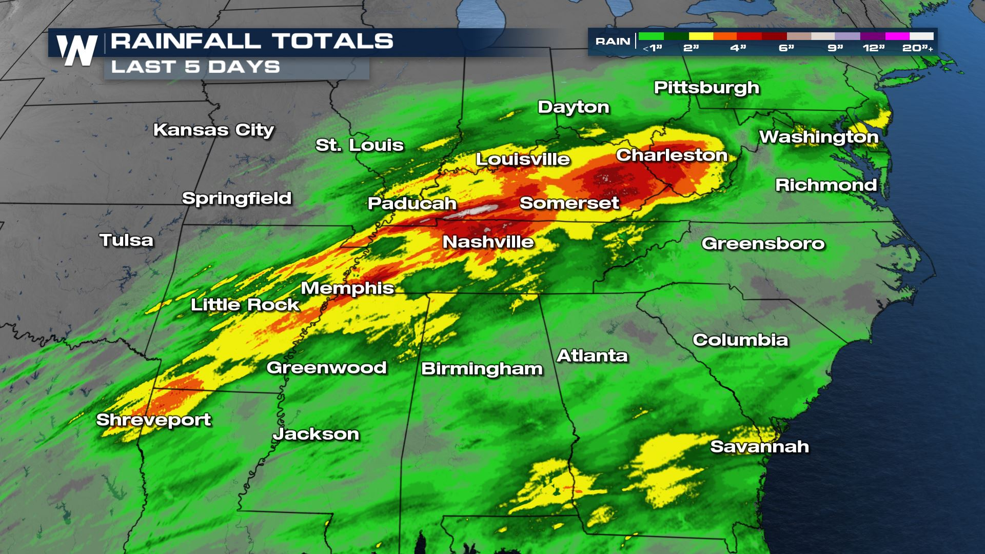 After Relentless Rain, Southeast Dries Out
