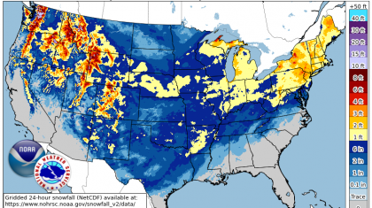 New Maps Show Extent Of February Snow