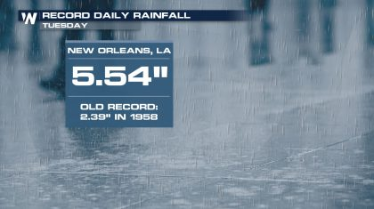 The Gulf Coast and Tennessee Valley Continues To Get Soaked