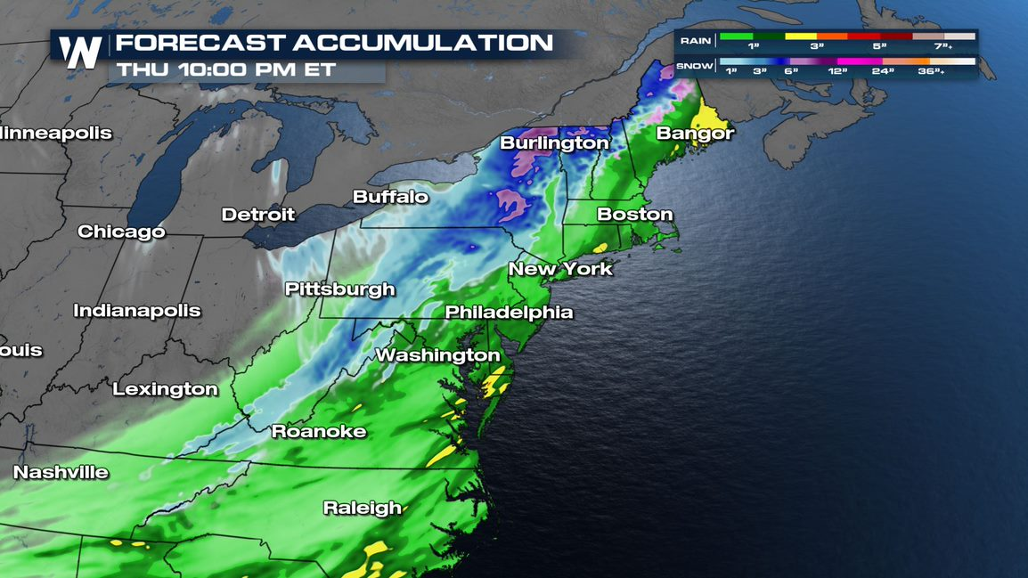 Spring Snow for the Northeast