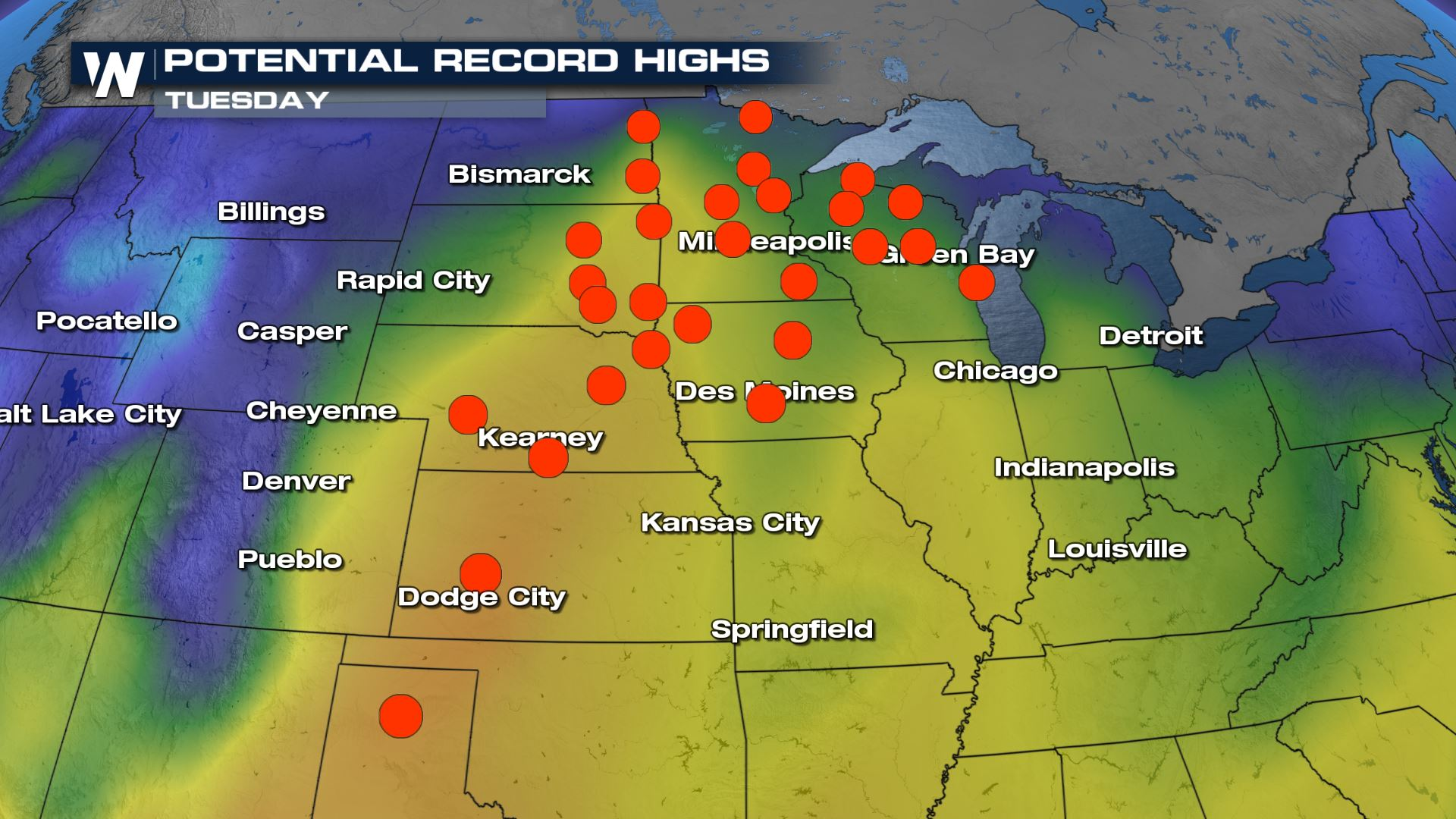 Record Warmth Stretches From Central U.S to East Coast