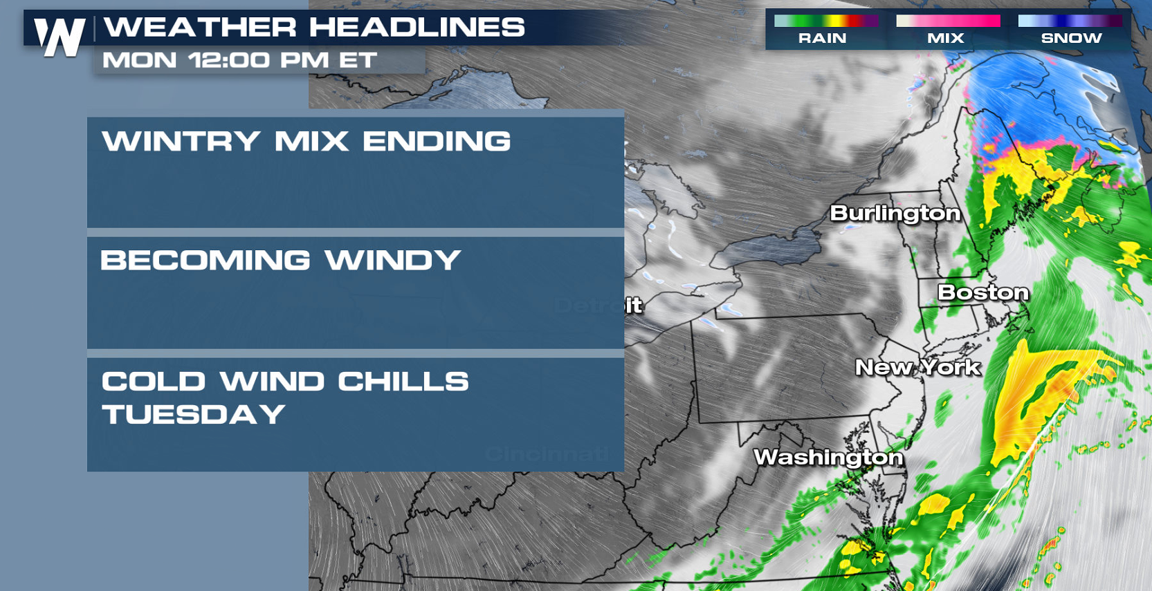 Windy and Cold for the Northeast