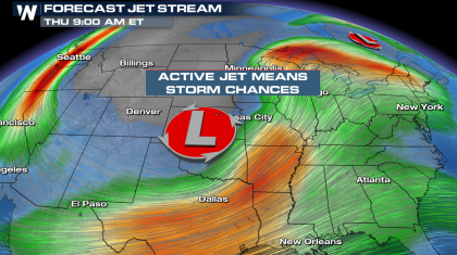 Heavy Rain & Storms Return to the Gulf Coast, Southern Plains & Midwest