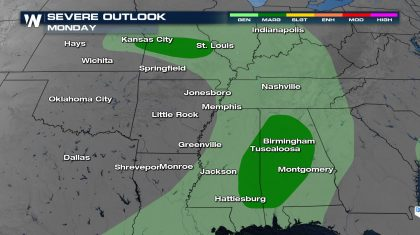 Active Weekend Severe Continues Monday