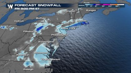 Messy System Headed for the Mid-Atlantic & Northeast