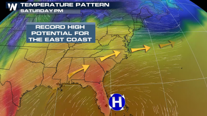 Record Heat Continues for the East Coast