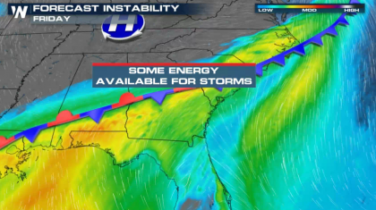 Severe Weather Chances Linger Friday in the Southeast