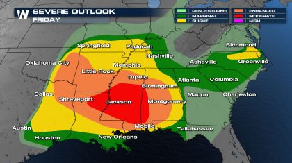 South Significant Severe Weather & Flooding Friday