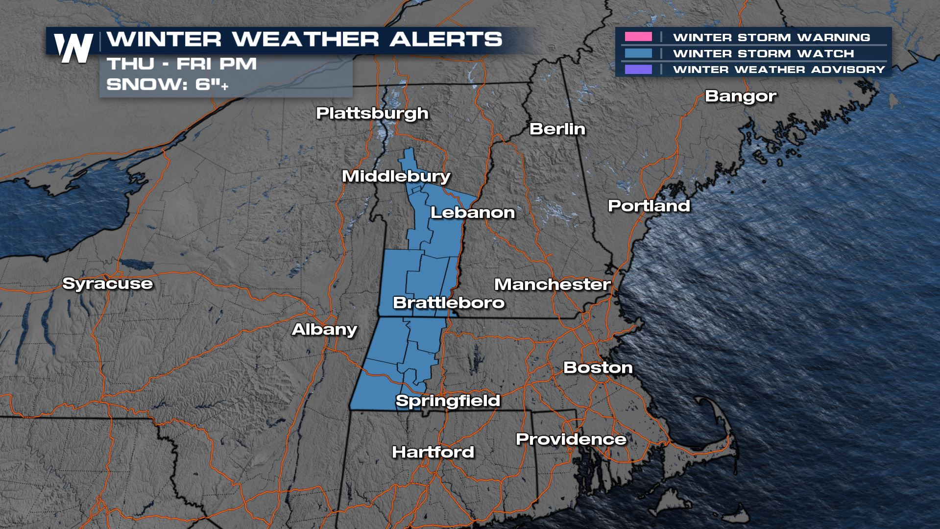 Winter Storm Watches Issued For New England