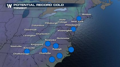 Record Cold Air Moves East To End The Week