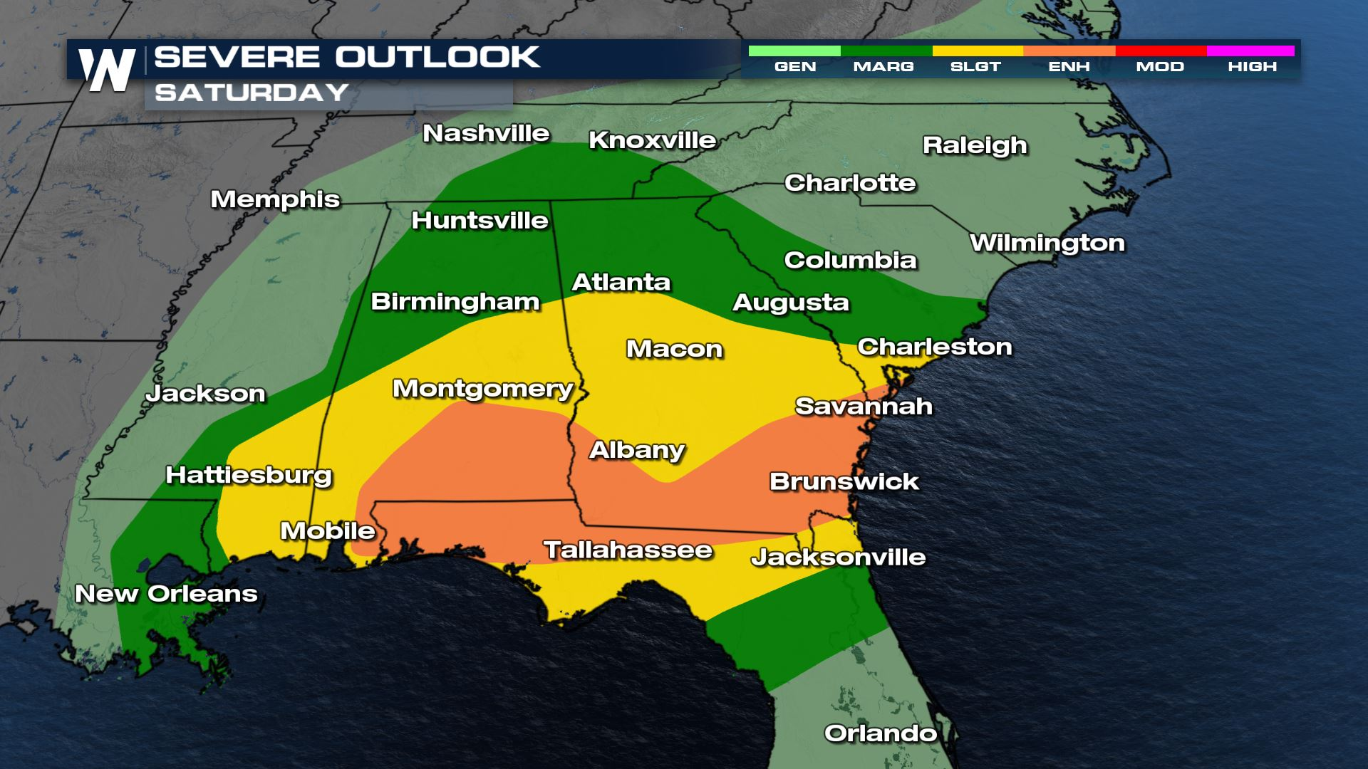 Severe Weather Continues Saturday
