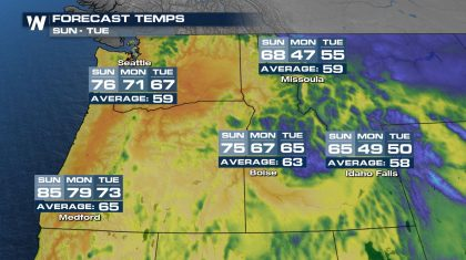 Heat Builds for the Pacific Northwest