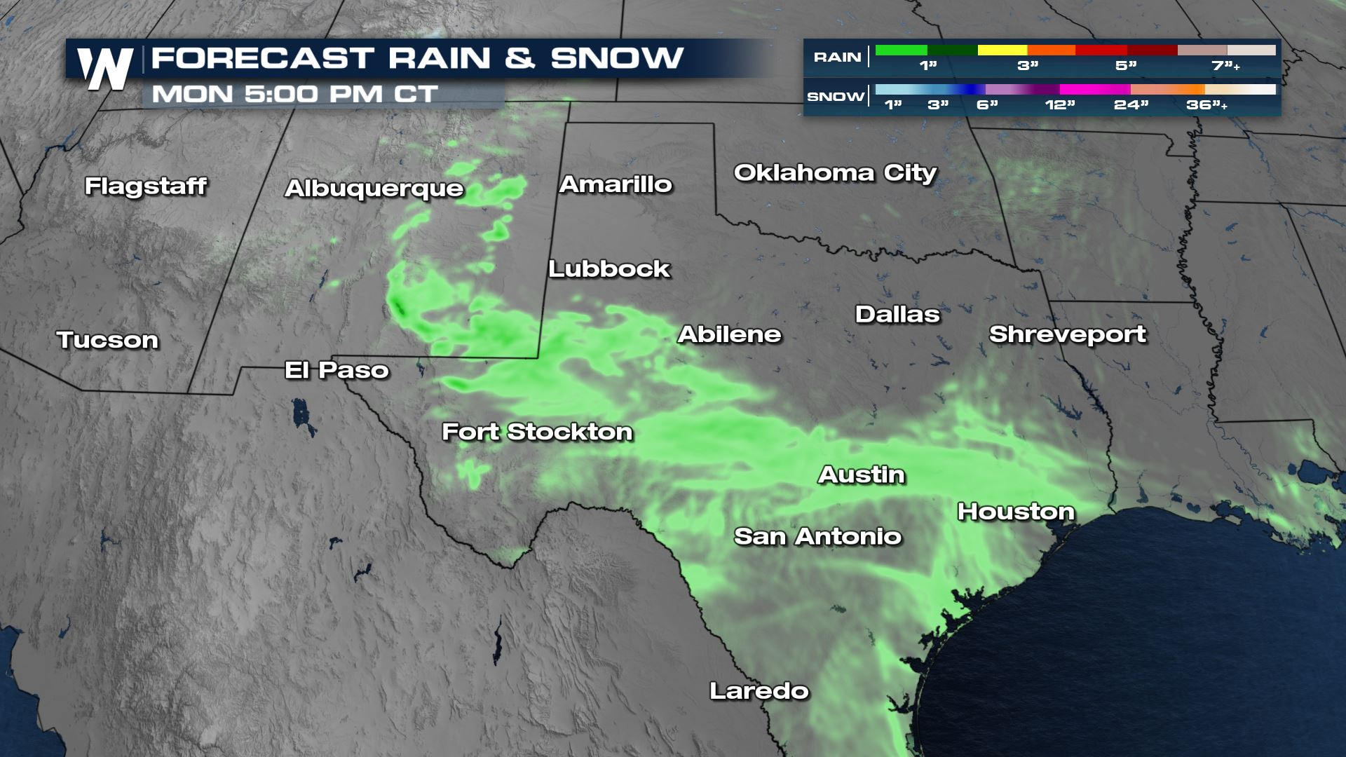 Rounds of Light Rain This Weekend for New Mexico and Texas