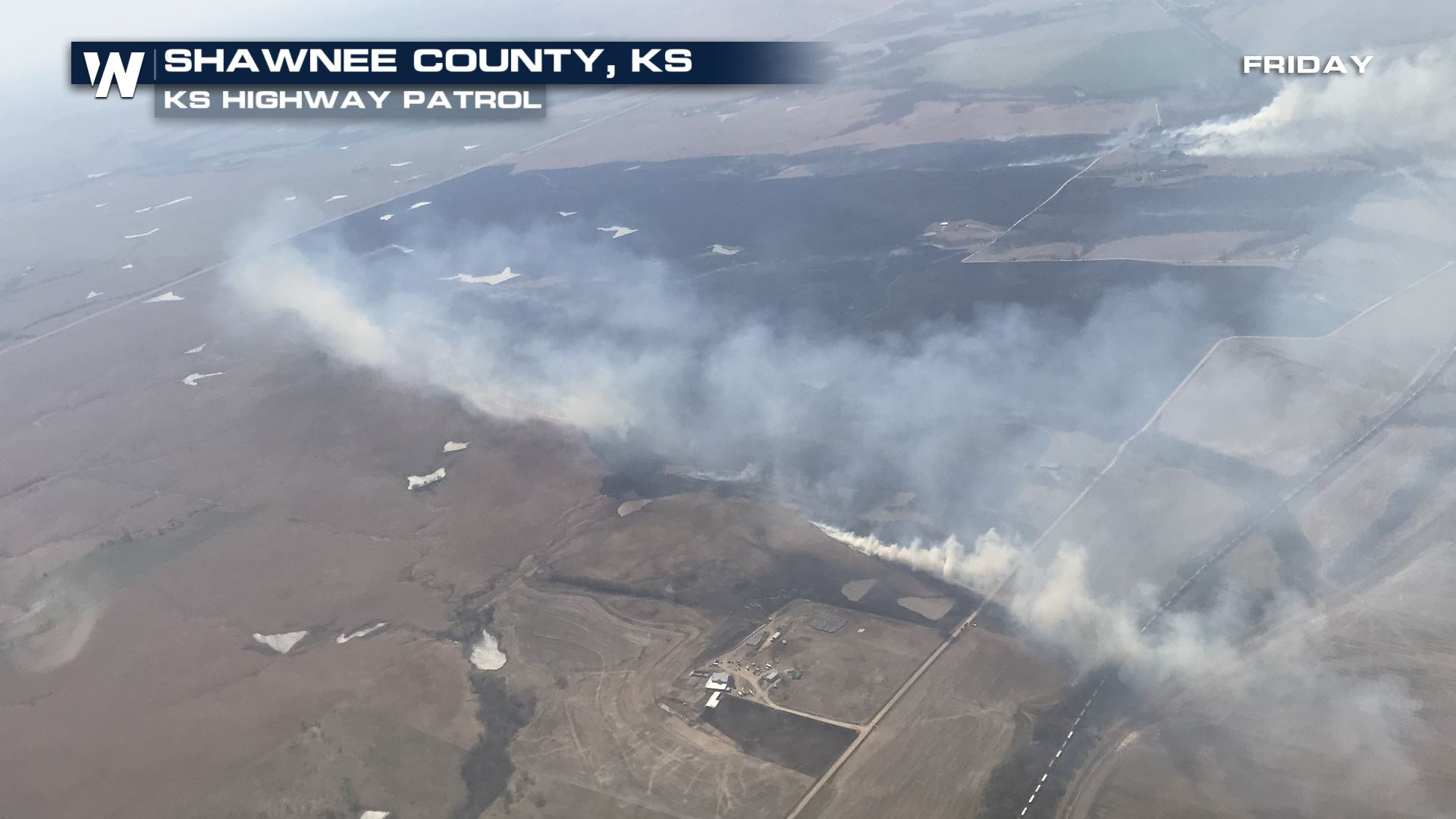 Fires Sparks Evacuations in Kansas Friday