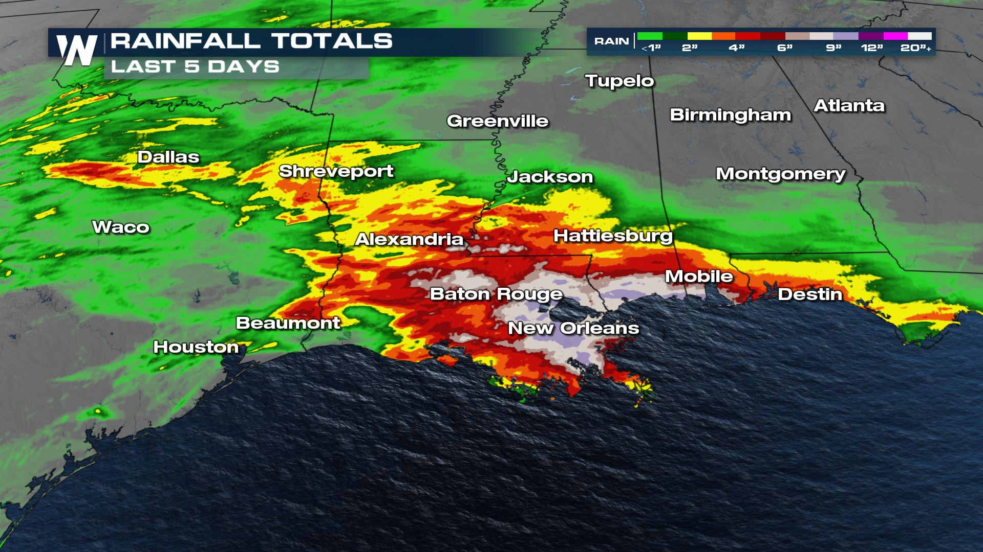 Flooding Continues Along the Gulf Coast