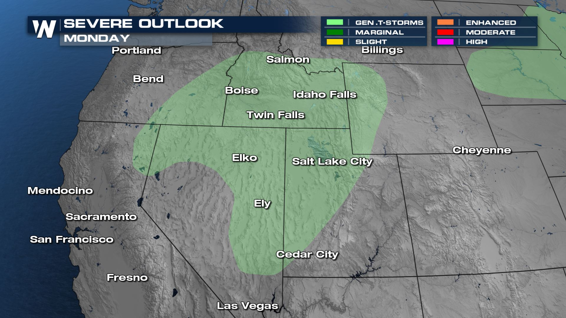 Staying Active Monday for the Northern and Central Rockies