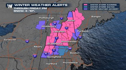 Winter Weather Returns to New England