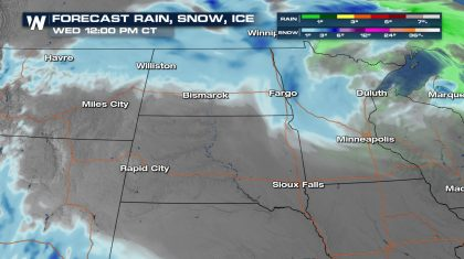 Snow Showers Clear Out of the High Plains Later Tonight