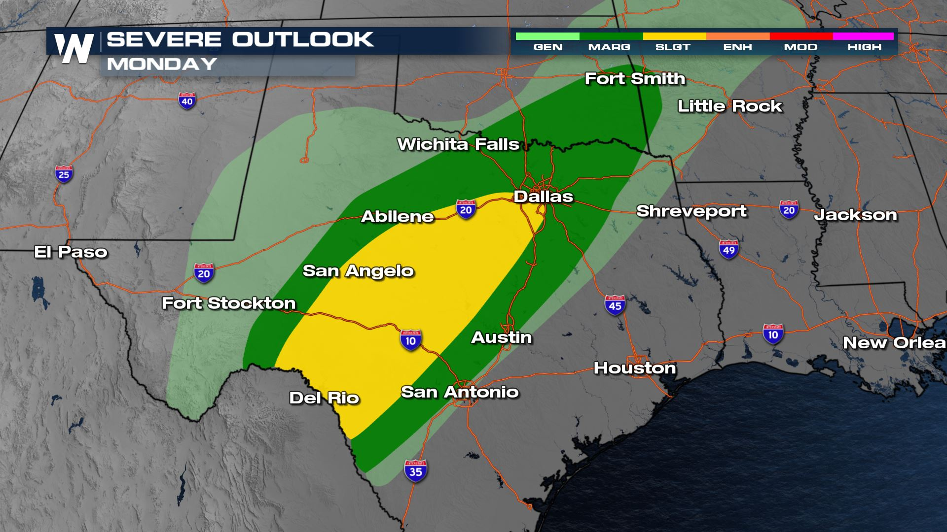 Severe Chances for the Lone Star State This Afternoon and Evening