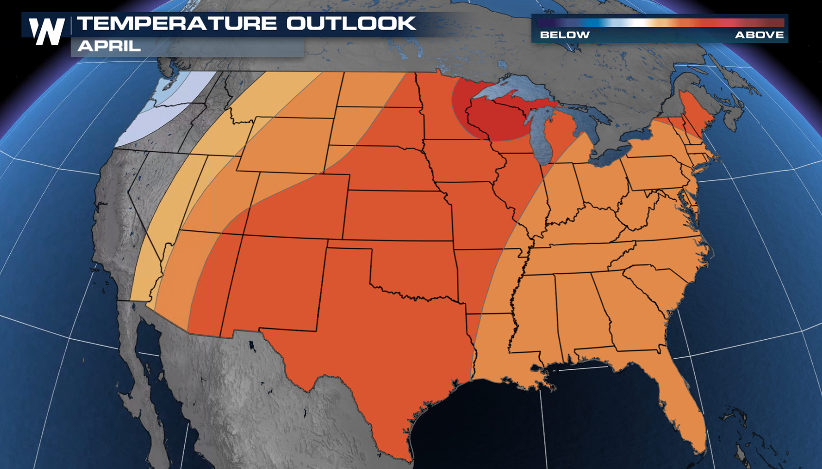 April Outlook Points to Warm and Dry Month