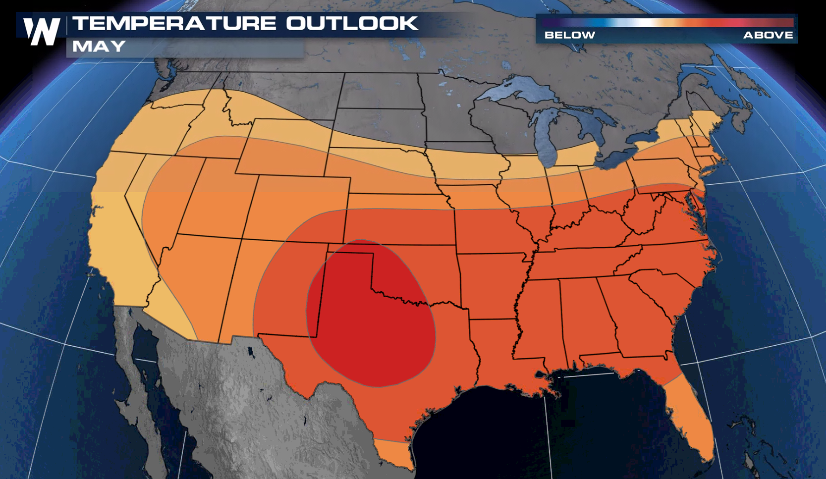 Warmer than Average Temperatures Forecast for May