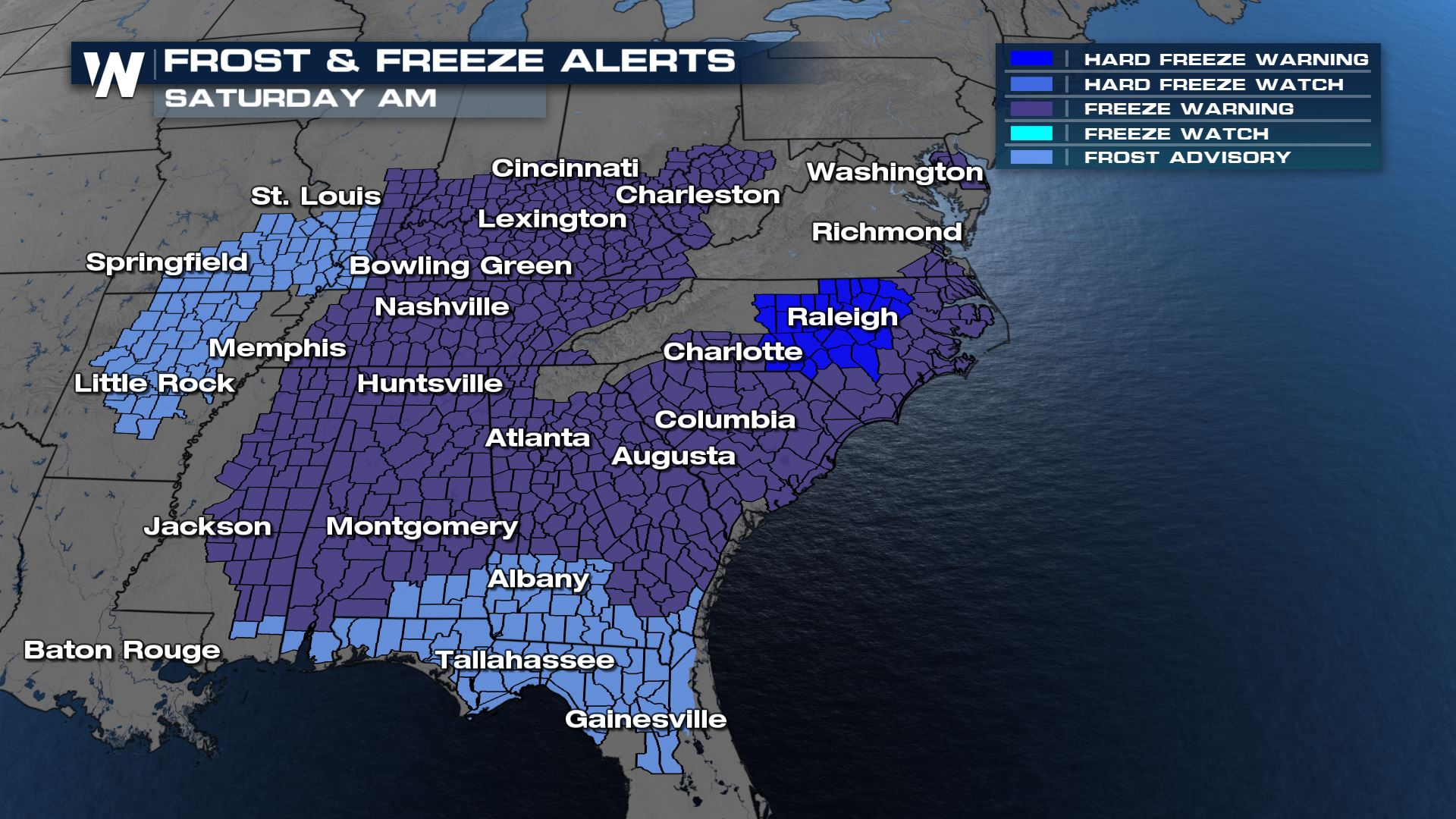 55 Million People Under Frost/Freeze Alerts