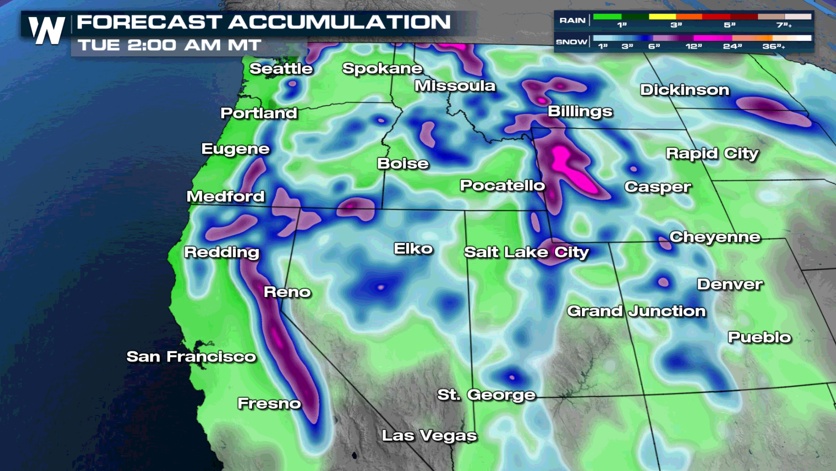Next Wave of Pacific Moisture Brings Snow back for the Sierras