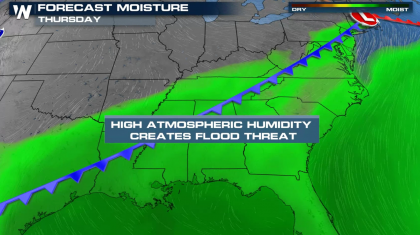 Flooding Threat from the Southern Plains to the Ohio Valley