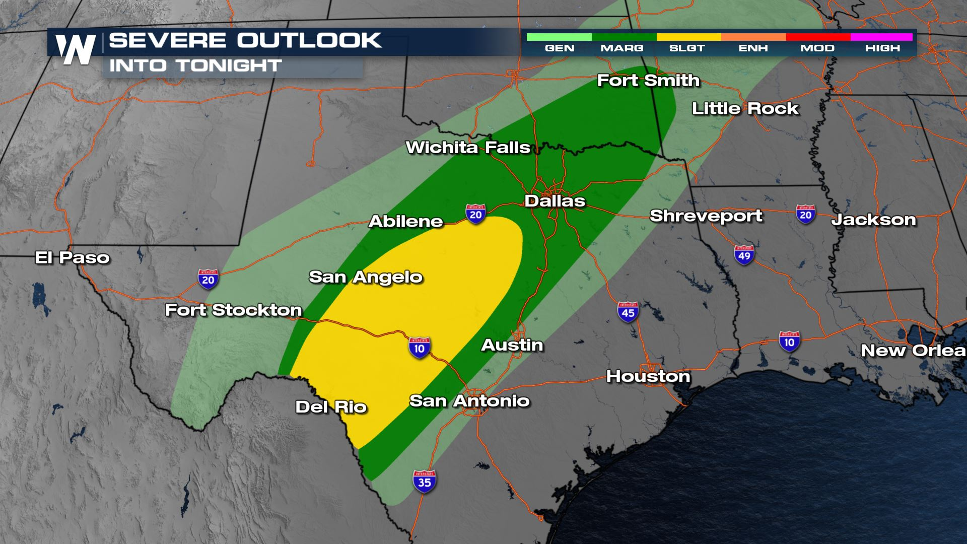 Severe Storms Likely for Texas This Afternoon/Tonight