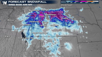 Potent Trough Brings Rain & Snow Back to the Rockies