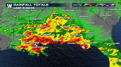 Heavy Rain and Flooding Possible Along the Gulf Coast