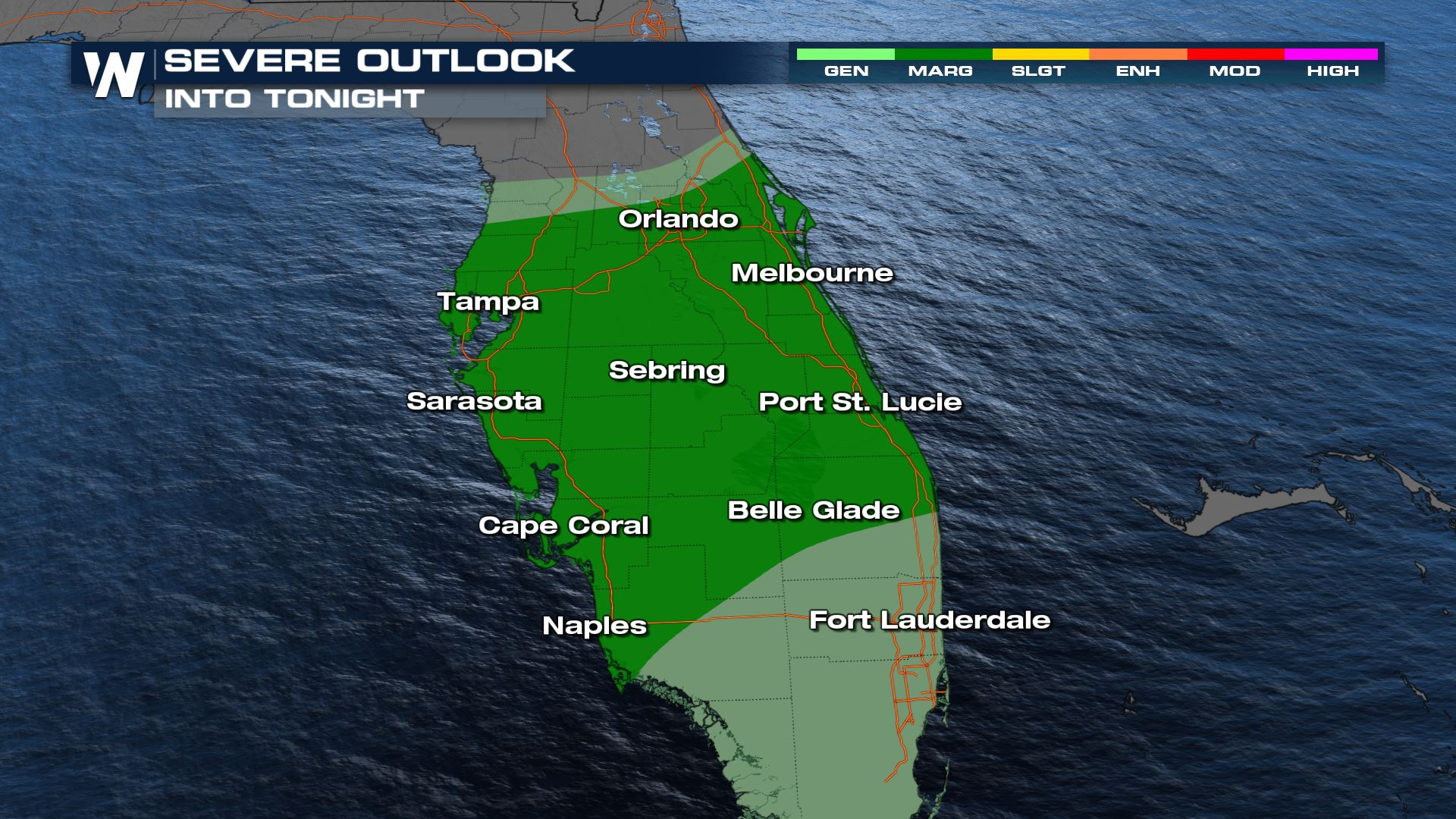 Severe Storms Still Possible for Parts of Florida