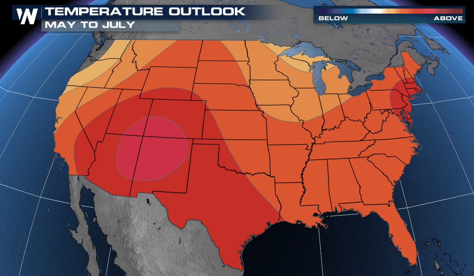 Warmth Predicted for the May to June Outlook