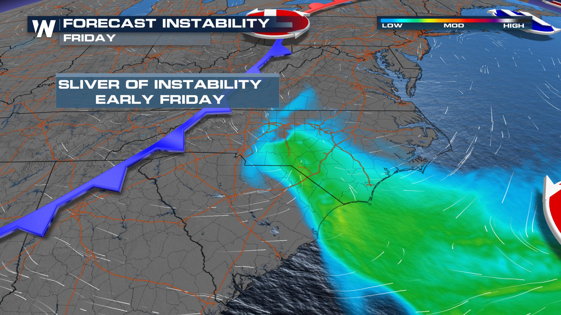 Storms Possible Early Friday in North Carolina & Virginia